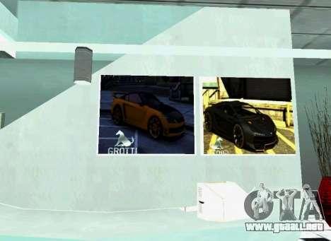 El Grotti concesionario en San Fierro para GTA San Andreas sucesivamente de pantalla