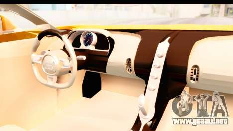 Bugatti Chiron 2017 v2.0 Updated para visión interna GTA San Andreas
