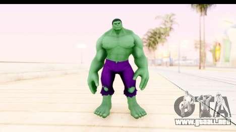 Marvel Heroes - Hulk para GTA San Andreas segunda pantalla
