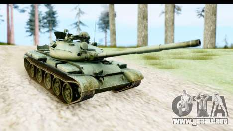 T-62 Wood Camo v1 para GTA San Andreas vista posterior izquierda