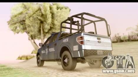 Ford F-150 Policia Federal para GTA San Andreas left