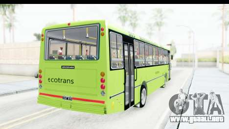 Bus La Favorita Ecotrans para GTA San Andreas left