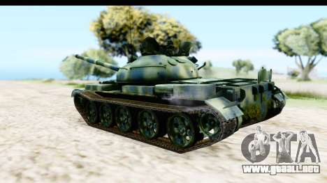 T-62 Wood Camo v3 para GTA San Andreas left