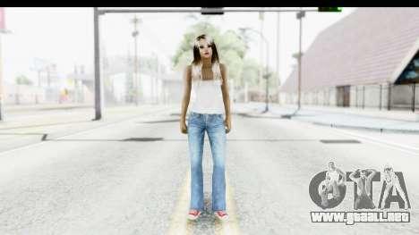 Silverblk White Top para GTA San Andreas segunda pantalla