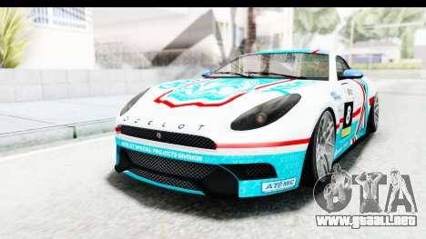 GTA 5 Ocelot Lynx SA Lights PJ para GTA San Andreas