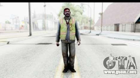 Left 4 Dead 2 - Zombie Baggage Handler para GTA San Andreas segunda pantalla