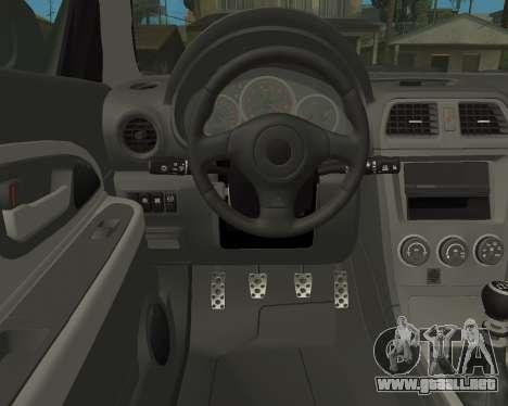 Subaru Impreza Armenian para vista lateral GTA San Andreas