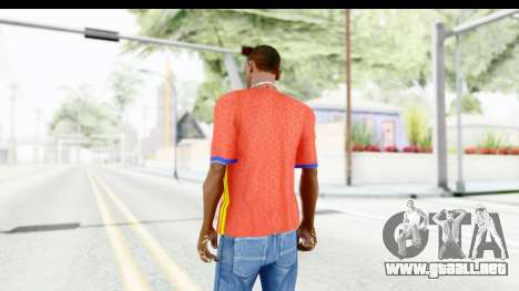 Spain Home Kit 2016 para GTA San Andreas tercera pantalla
