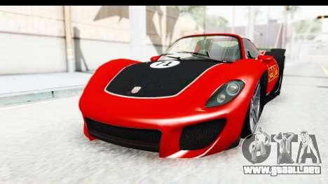 GTA 5 Pfister 811 IVF para la vista superior GTA San Andreas