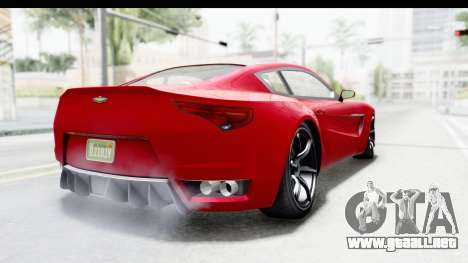 GTA 5 Dewbauchee Seven 70 IVF para GTA San Andreas vista posterior izquierda