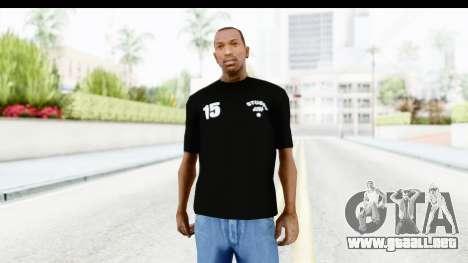 Stussy Black T-Shirt para GTA San Andreas
