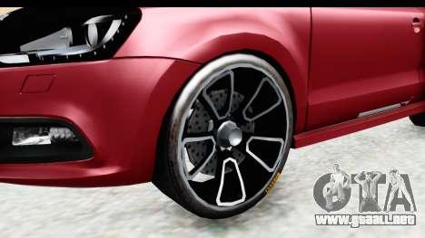Volkswagen Polo para GTA San Andreas vista hacia atrás