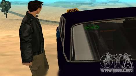 VAZ-2106 a GVR primera versión para visión interna GTA San Andreas