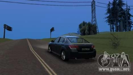 Subaru Legacy 2010 para GTA San Andreas left