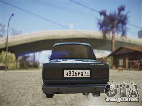 VAZ 2107 Black Jack para la visión correcta GTA San Andreas