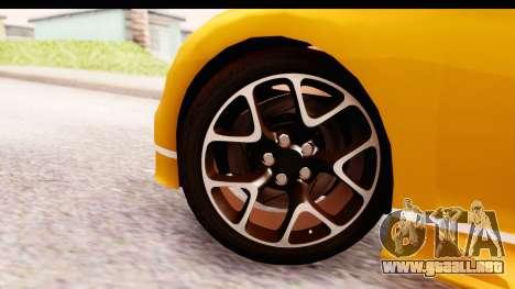 Bugatti Chiron 2017 v2.0 Updated para GTA San Andreas vista posterior izquierda