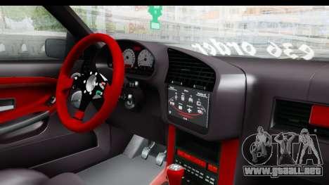 BMW M3 E36 Sloboz Edition para visión interna GTA San Andreas