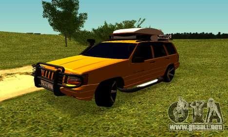 Jeep Grand Cherokee para visión interna GTA San Andreas
