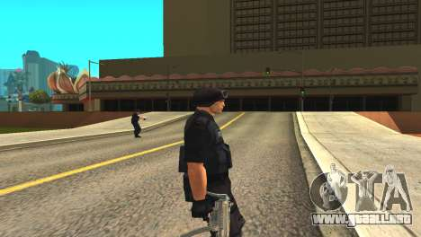 Original SWAT de la piel sin máscara para GTA San Andreas segunda pantalla