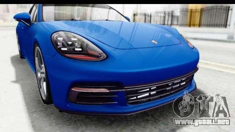 Porsche Panamera 4S 2017 v1 para visión interna GTA San Andreas