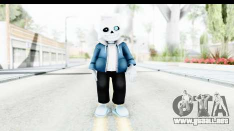 Sans The Skeleton Undertale para GTA San Andreas segunda pantalla