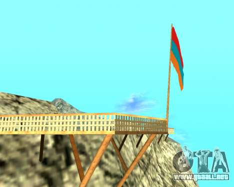 Armenian Flag On Mount Chiliad V-2.0 para GTA San Andreas segunda pantalla