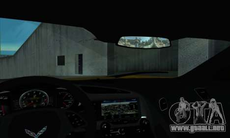 Chevrolet Corvette para la visión correcta GTA San Andreas