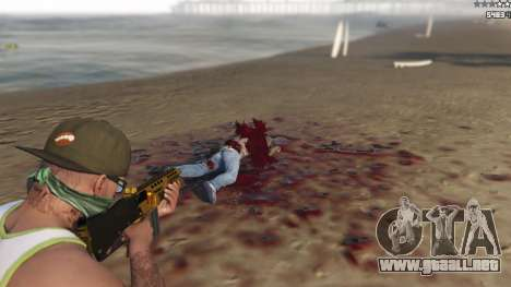 GTA 5 Extreme Blood 0.1 décima captura de pantalla