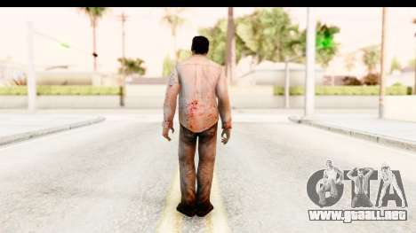 Left 4 Dead 2 - Zombie Shirt 1 para GTA San Andreas tercera pantalla