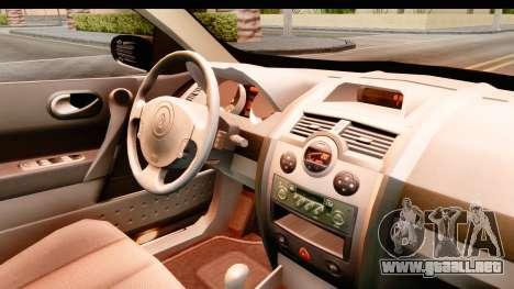 Renault Megane 2 Sedan 2003 para visión interna GTA San Andreas