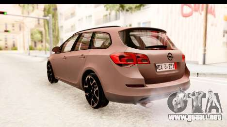 Opel Astra J Tourer para GTA San Andreas vista posterior izquierda