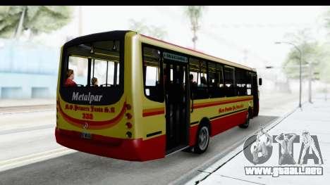 Metalpar Tronador 2 Puertas Linea 324 para GTA San Andreas vista posterior izquierda