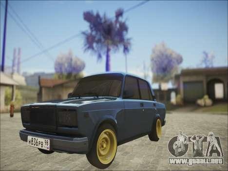 VAZ 2107 Black Jack para GTA San Andreas left