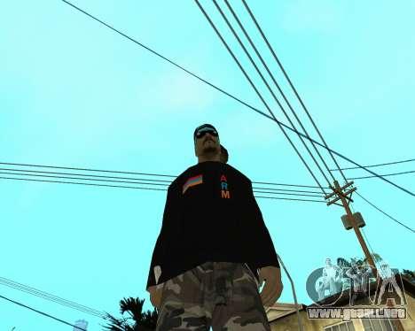 Armenian Skin para GTA San Andreas tercera pantalla