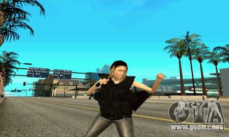 Hembra entrenador de SWAT para GTA San Andreas quinta pantalla