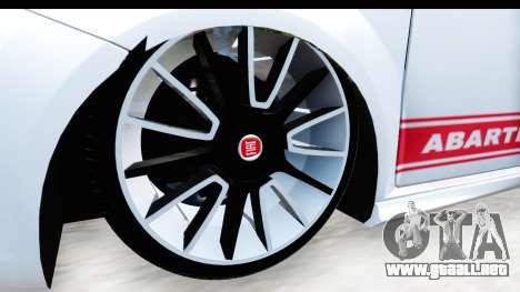 Fiat Punto Abarth para GTA San Andreas vista hacia atrás
