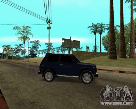 Niva 2121 Armenian para la vista superior GTA San Andreas