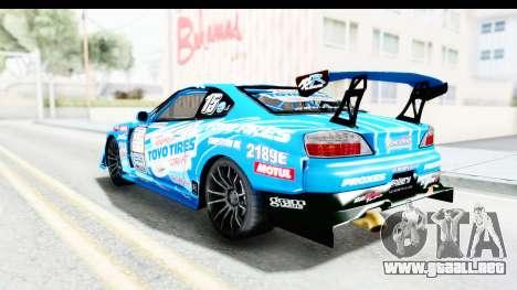 Nissan Silvia S15 D1GP Blue Toyo Tires para GTA San Andreas left