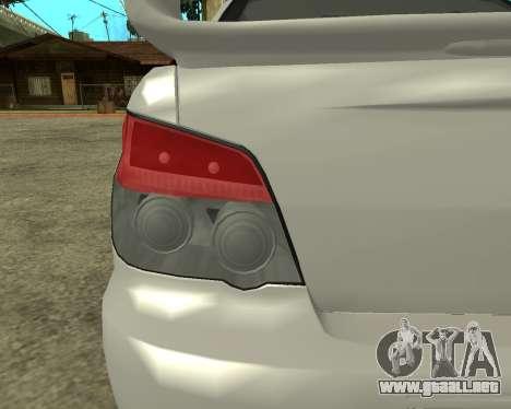 Subaru Impreza Armenian para visión interna GTA San Andreas