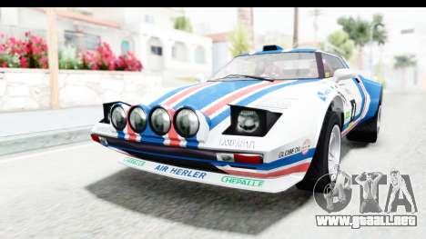 GTA 5 Lampadati Tropos Rallye para vista lateral GTA San Andreas