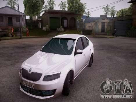 Skoda Octavia A7 R para GTA San Andreas left