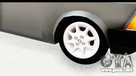 Volkswagen Golf para GTA San Andreas vista hacia atrás