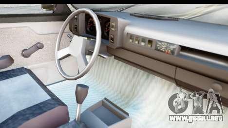 Volkswagen Golf para visión interna GTA San Andreas