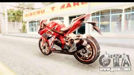 Honda CBR250RR para GTA San Andreas left