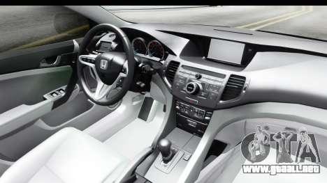 Honda Accord 2010 JDM para vista lateral GTA San Andreas
