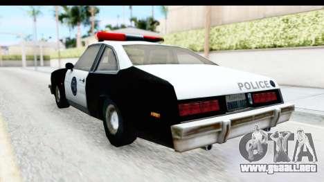 Pontiac Ventura LSPD from Silent Hill 2 para GTA San Andreas vista posterior izquierda