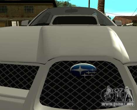 Subaru Impreza Armenian para la visión correcta GTA San Andreas