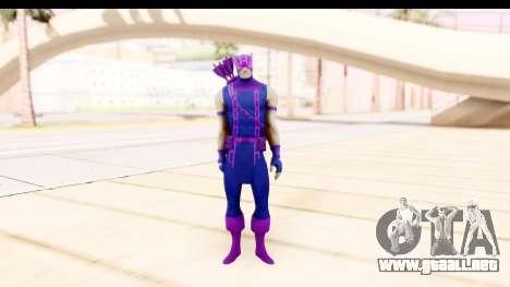 Marvel Heroes - Hawkeye para GTA San Andreas segunda pantalla