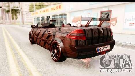 Renault Megane Spyder Full Tuning v2 para GTA San Andreas left
