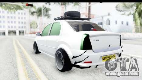 Dacia Logan Coil para GTA San Andreas left